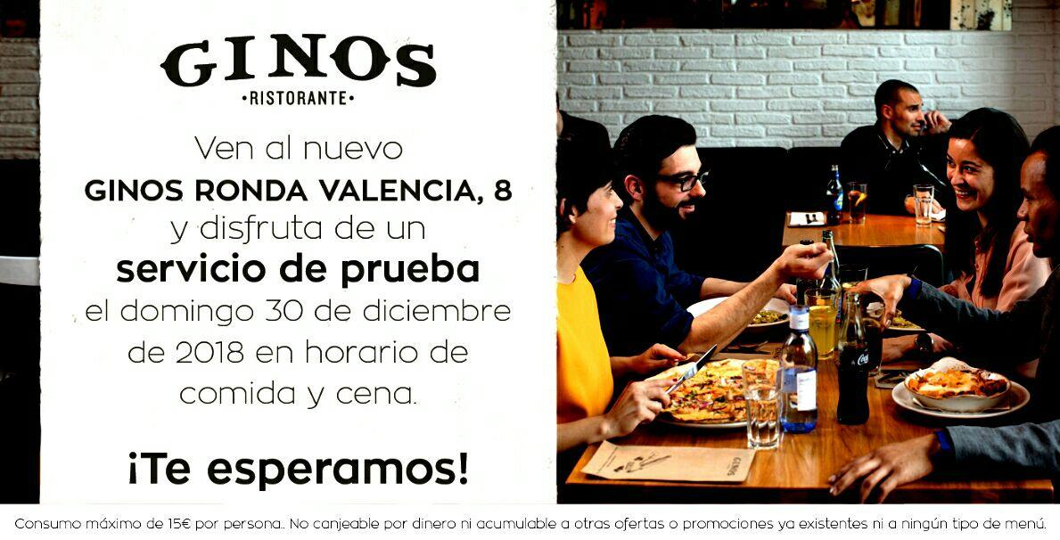 Cena Gratis en Ginos (Madrid)