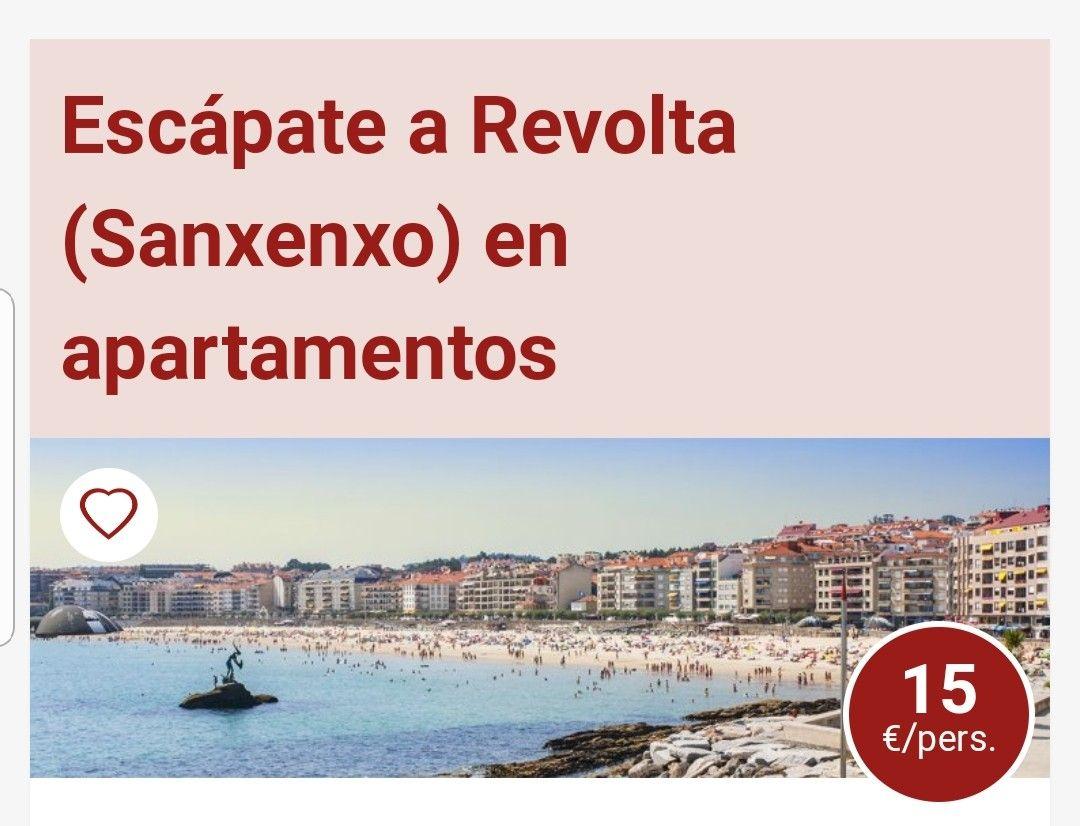 3 DÍAS Y 2 NOCHES EN APARTAMENTOS REVOLTA(SANXENXO) +BOTELLA DE CAVA+LATE CHECK OUT PARA ESTANCIAS HASTA MARZO. DESDE 15€ PERSONA Y NOCHE