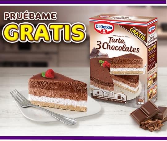 [REEMBOLSO] Prueba GRATIS Tarta 3 Chocolates Dr. Oetker