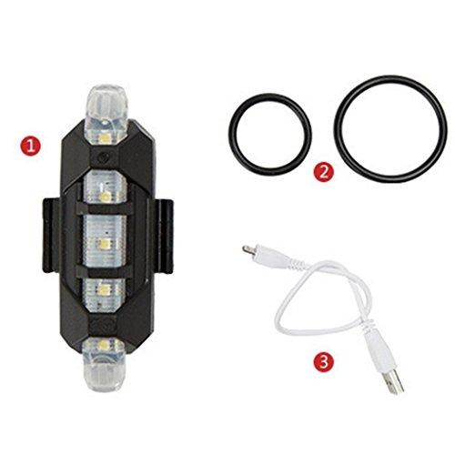 Luz Trasera para Bicicleta Recargable USB - Potente LED Faro Trasero Bici - 3 colores