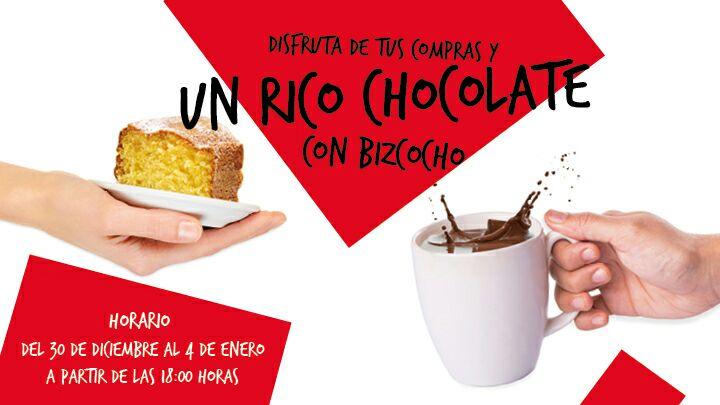 Chocolate y bizcocho gratis