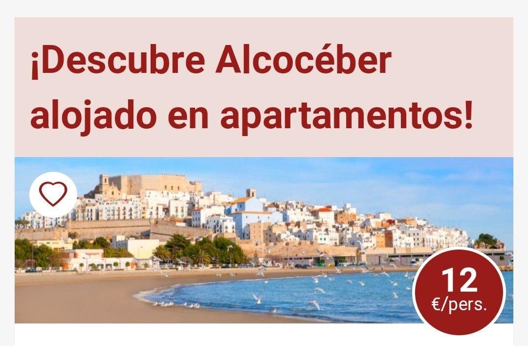 3 DIAS Y 2 NOCHES EN APARTAMENTOS EN LA COSTA AZAHAR ALCOCÉBER+ENTRADA AL CASTILLO DE PEÑÍSCOLA+LATE CHECK OUT.