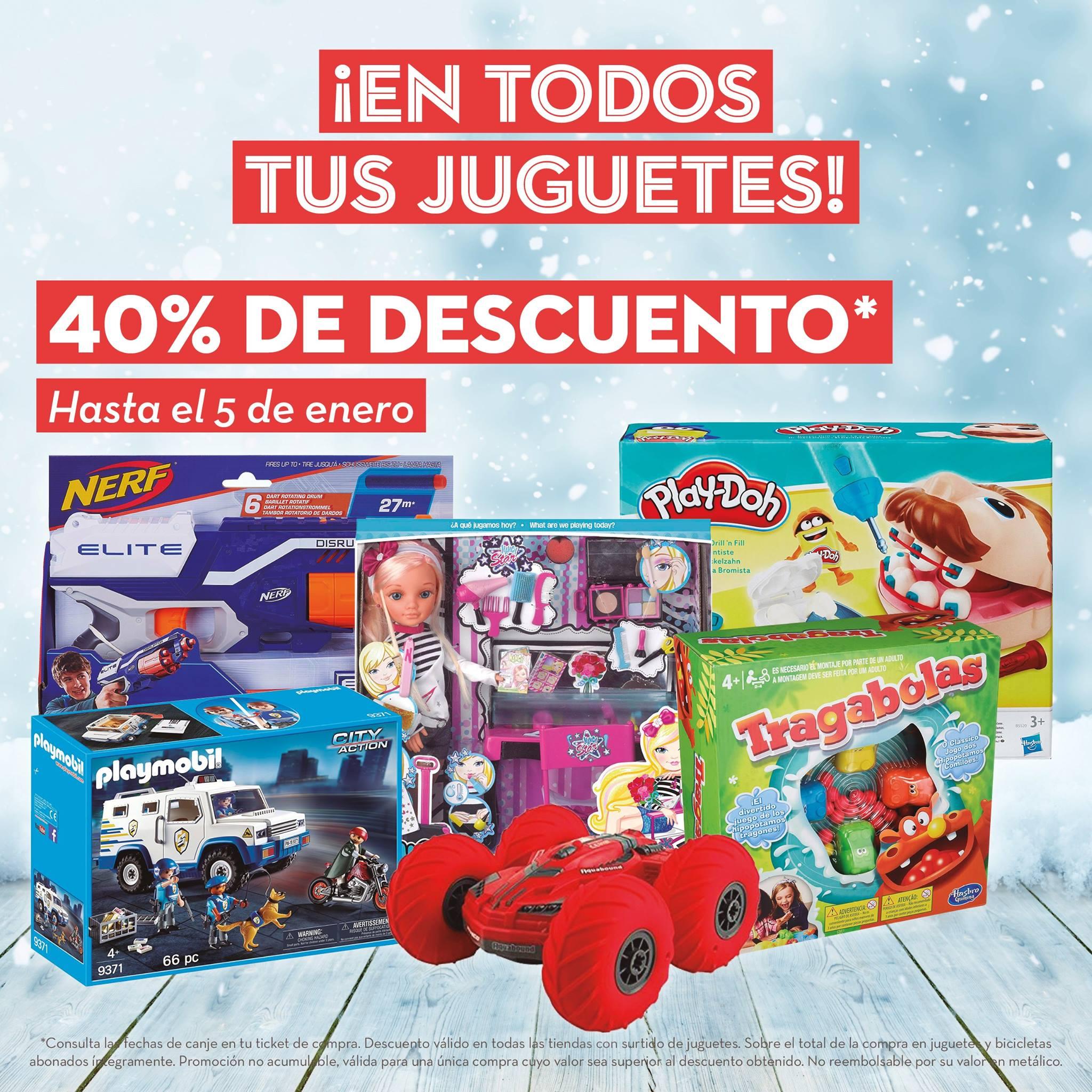 ¡40% descuento en todos los juguetes para canjear del 7 al 31 de enero! Supersol