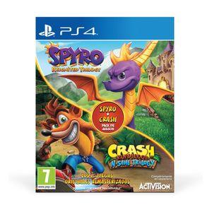 Bundle Spyro Reignited Trilogy + Crash Bandicoot PS4 7+