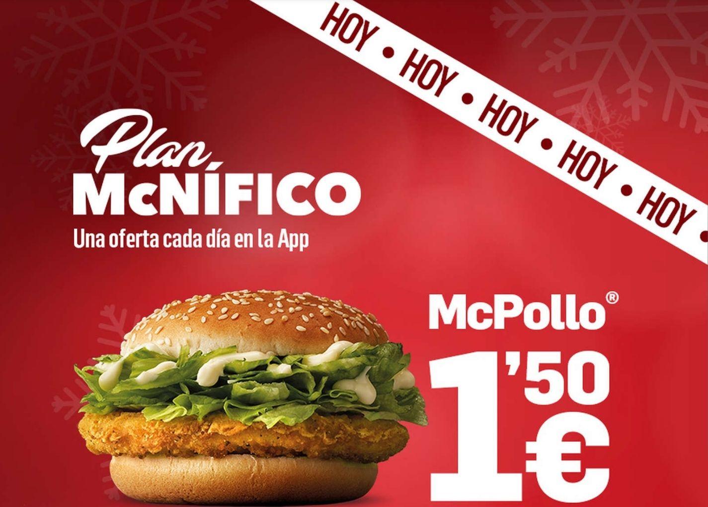 McPollo por sólo 1.50€