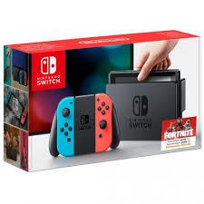 Nintendo Switch Rojo Neón y Azul Neón