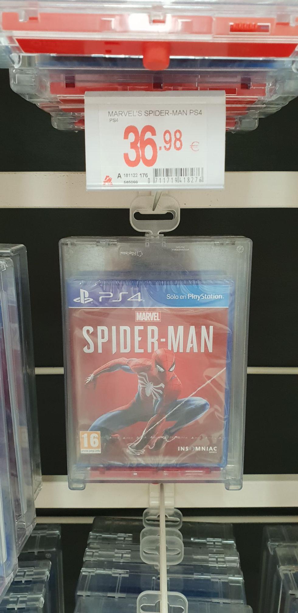 Spider-Man PS4 a 36.98€ en Alcampo Gijón