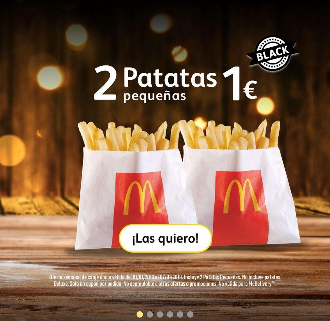 2 patatas pequeñas por 1 euro