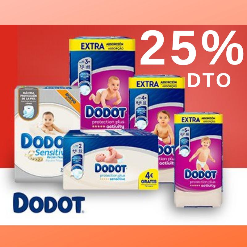 25 % PAÑALES DODOT