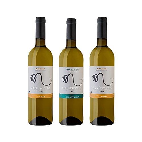 Vinos Manuscrito Pack 3 Botellas - Blanco (2x Albariño 100% - 1x Txakoli 100%)