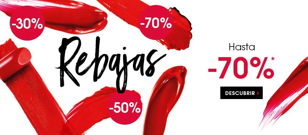 Sephora, Hasta un 70% de descuento en una selección de productos.