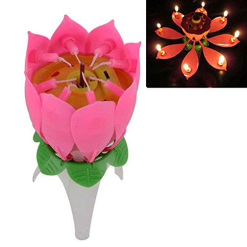¡Vela de cumpleaños musical Flor de Loto 1,14€! Envío gratis España