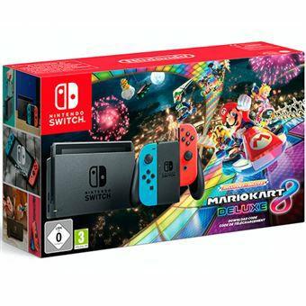 Nintendo Switch + Mario Kart 8 Deluxe (Código)
