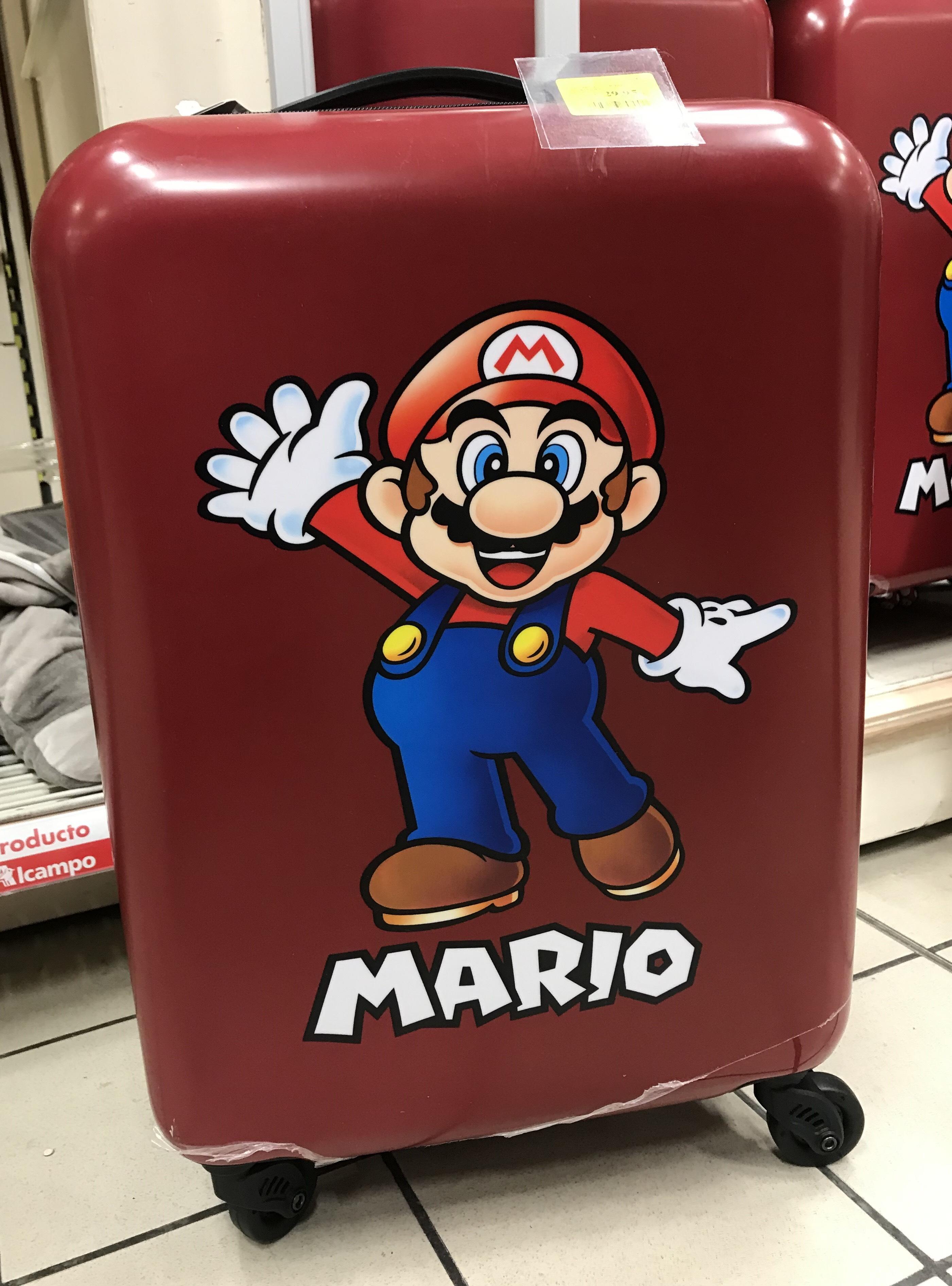 ¡Maleta Trolley Mario Bros 29,90€! Alcampo España