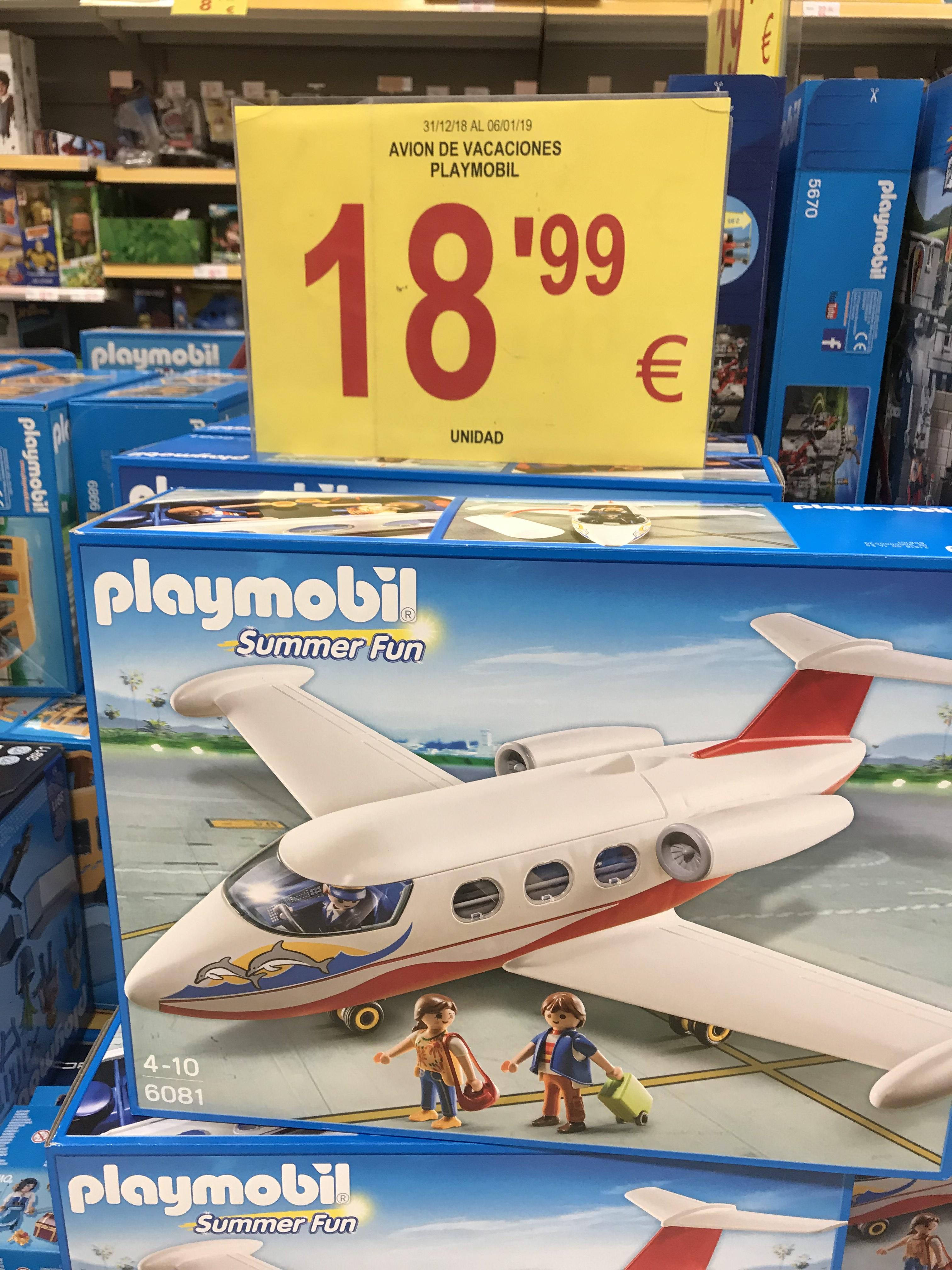 ¡Avión de vacaciones de Playmobil 18,99€! Alcampo