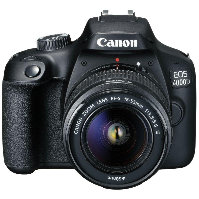 Canon EOS 4000D DSLR Kit con Objetivo 18-55mm III