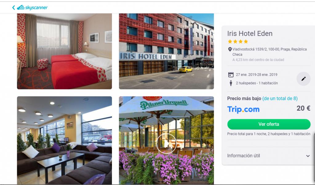 Hotel Praga 10 euros/persona/noche