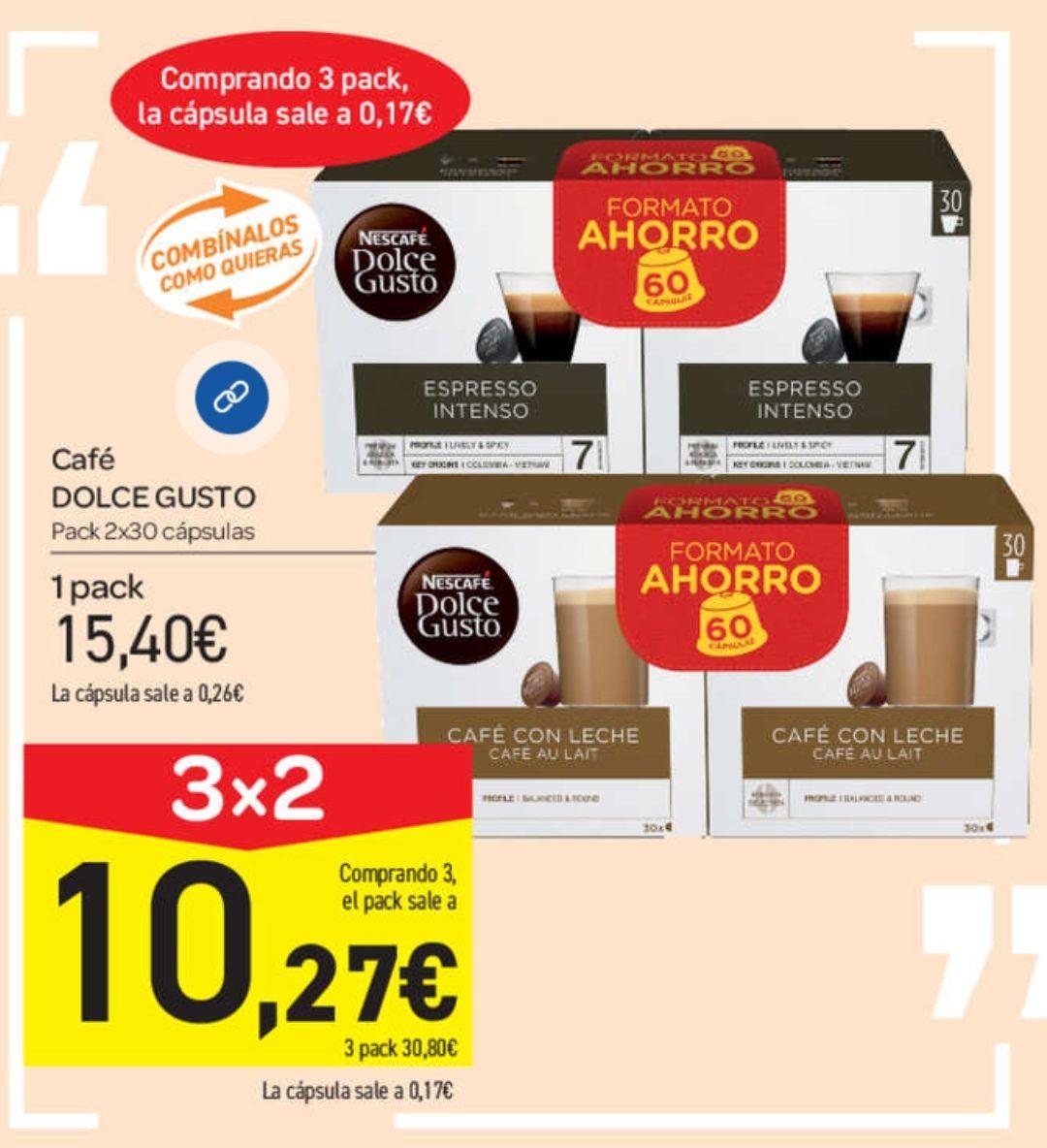 Chollazo: 180 Cápsulas Dolce Gusto por 30,80€