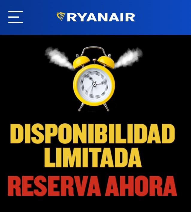 Descuentos vuelos Ryanair