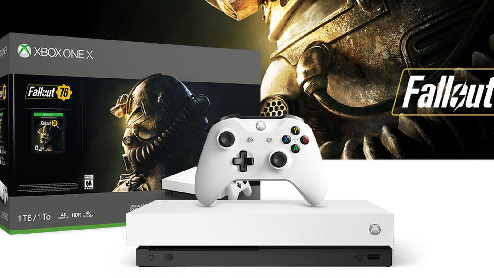 Xbox One X Fallout76 Blanca !!!