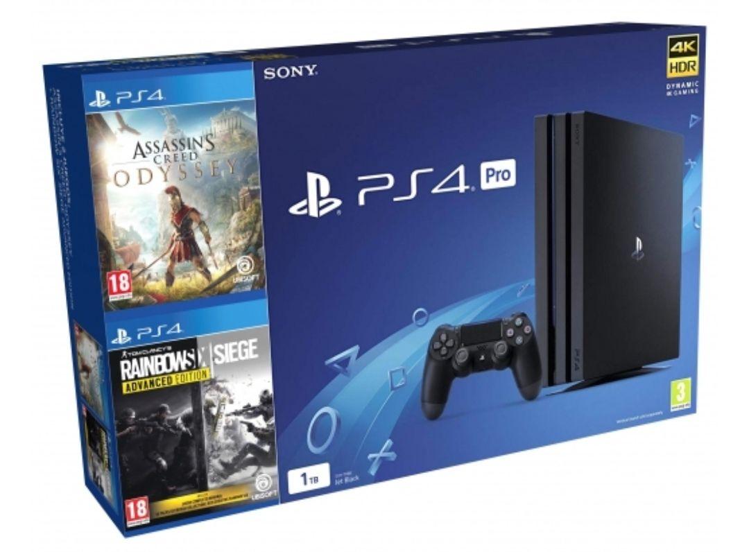 PS4 Pro 1TB con Assassin's Creed Odyssey + RainbowSix Siege Advanced Edition