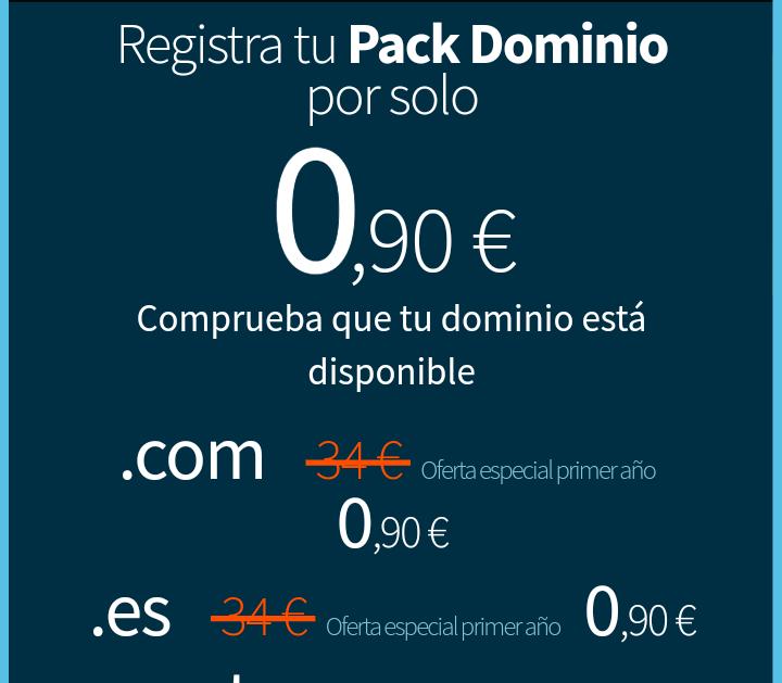 Dominio + Hosting Ilimitado + 3 emails