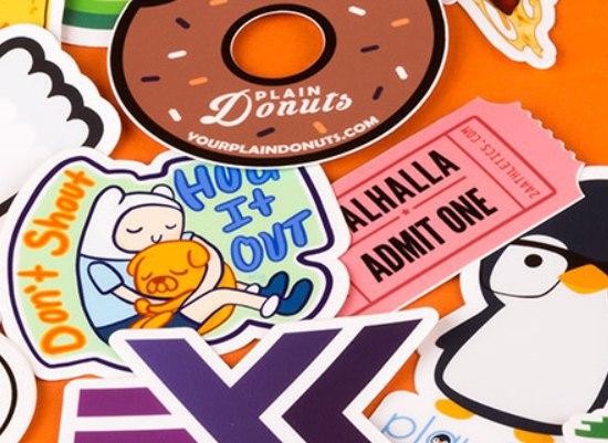 [Vuelve la oferta] 10 Stickers personalizables 7,62x7,62cm