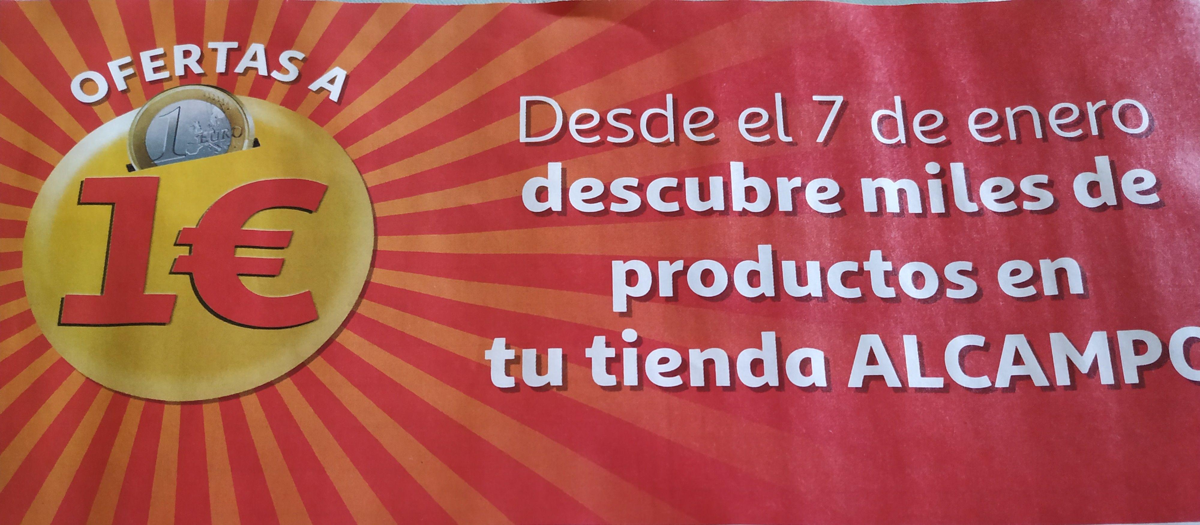 Ofertas +500 productos a 1€ en Alcampo