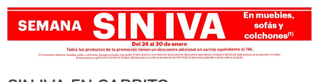 Del 24 al 30 sin Iva