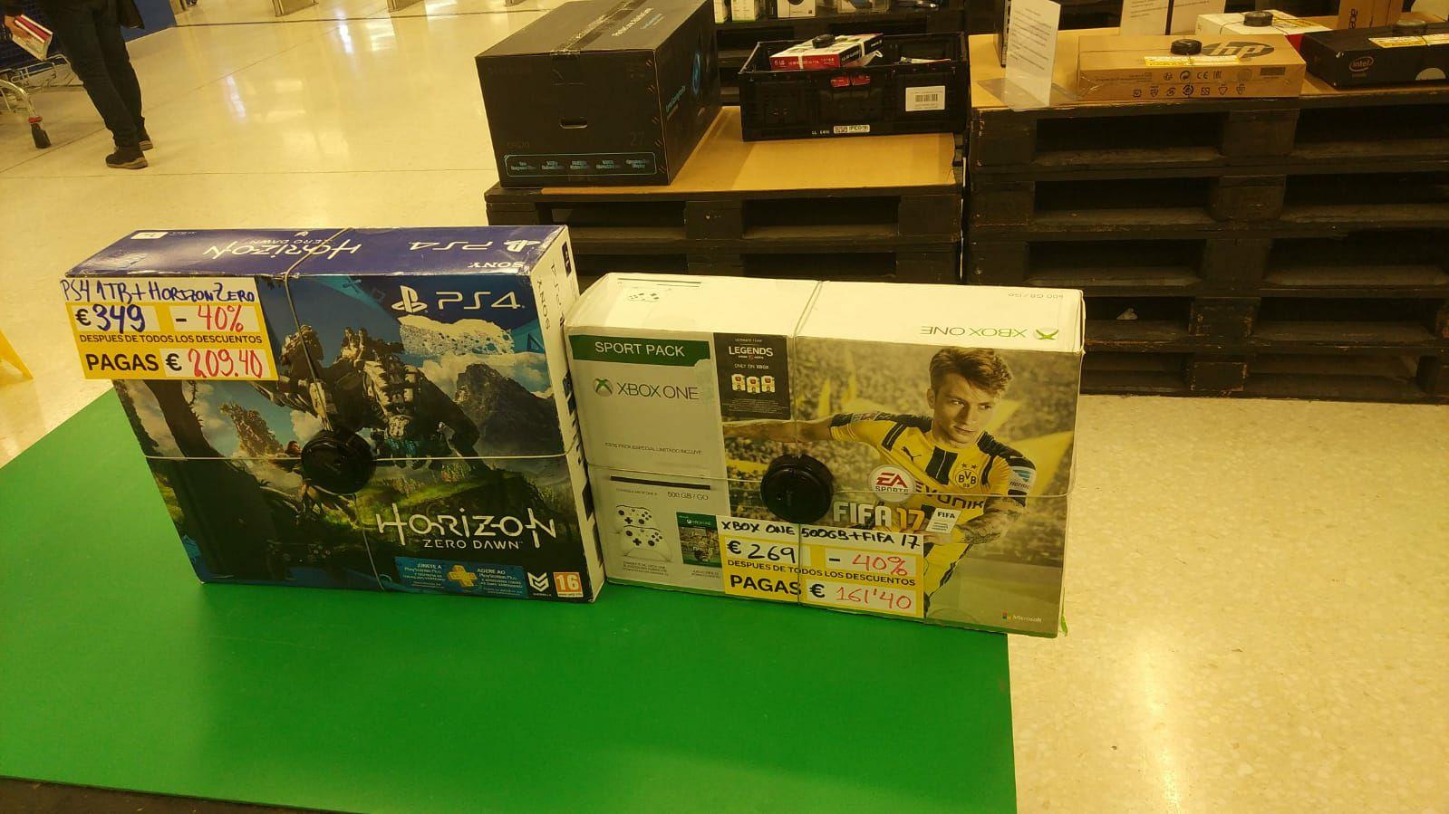 Pack Xbox One + 2 Mandos + Fifa 17 Solo En CARREFOUR DE CORUÑA