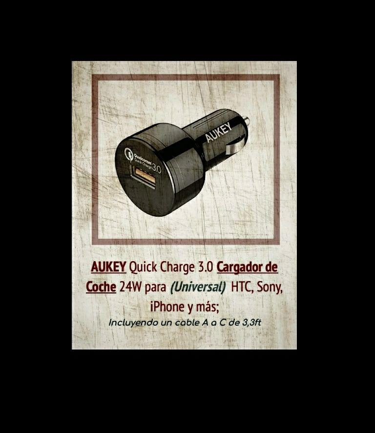 REACTIVADO AUKEY Quick Charge 3.0 Cargador de Coche 24W para (Universal)