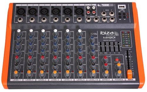 Mesa de mezclas de 8 canales - Ibiza MX801