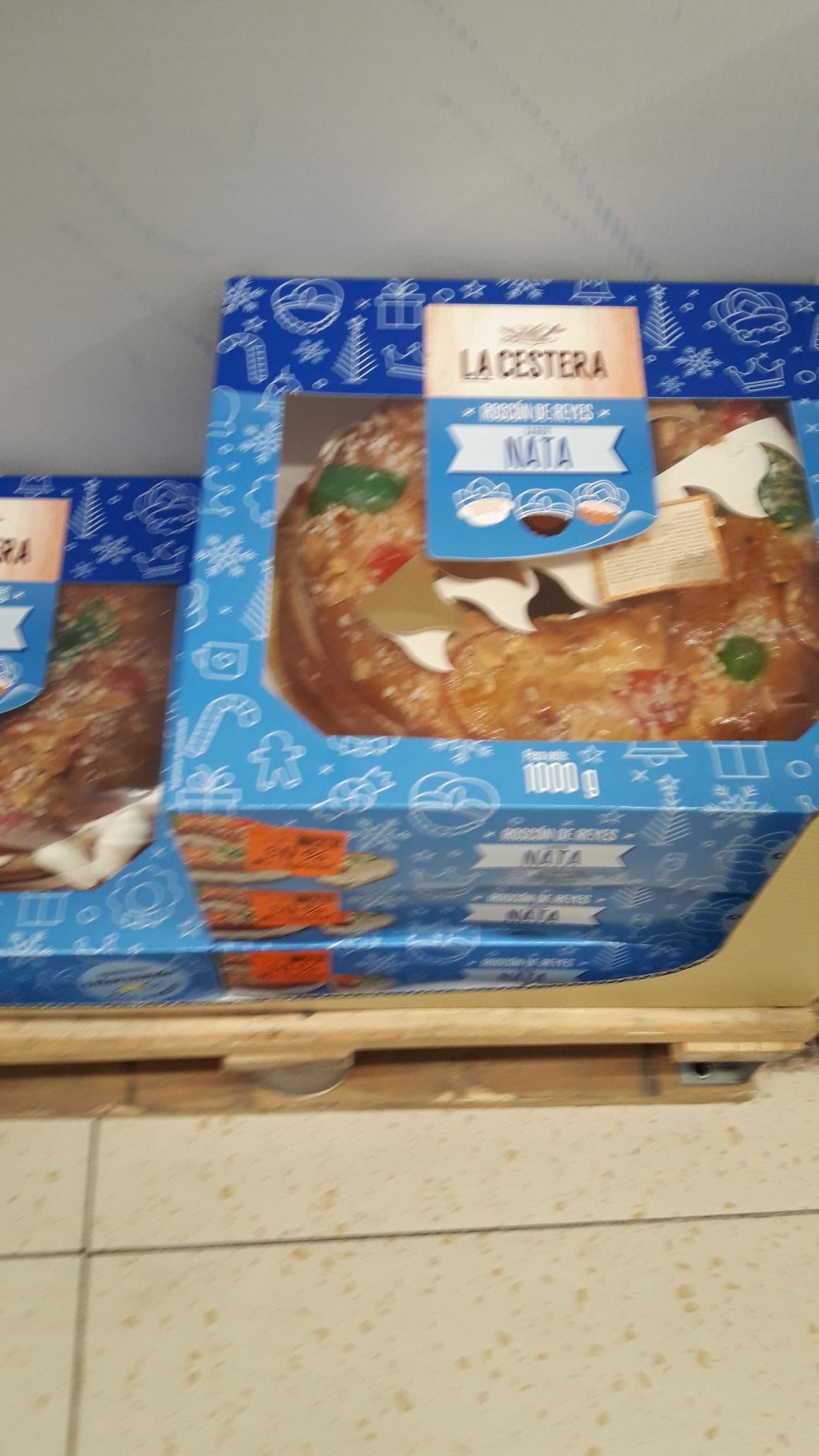 Roscón de reyes de nata de 1kg