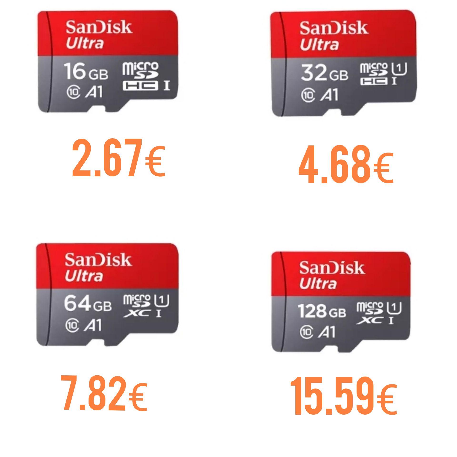 Sandisk ultra 128Gb por solo 15.69€