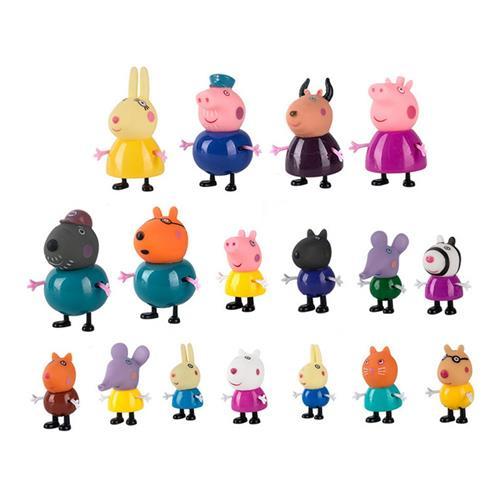 17Pcs Peppa Pig Familia y amigos.