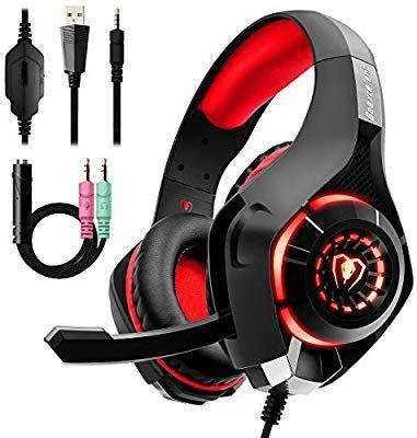 Auriculares Gaming Premium Stereo con Microfono para PS4 PC Xbox one, ...