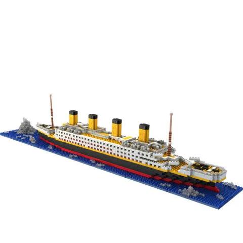 Juguete educativo para niños DIY Titanic de bloques