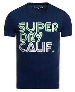 Superdry Hombre Camiseta Surf Princeton Azul Marga
