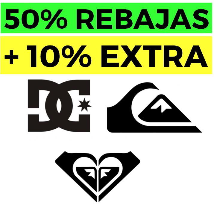 50% + 10% + 10% EXTRA en Quiksilver, Roxy y DC Shoes