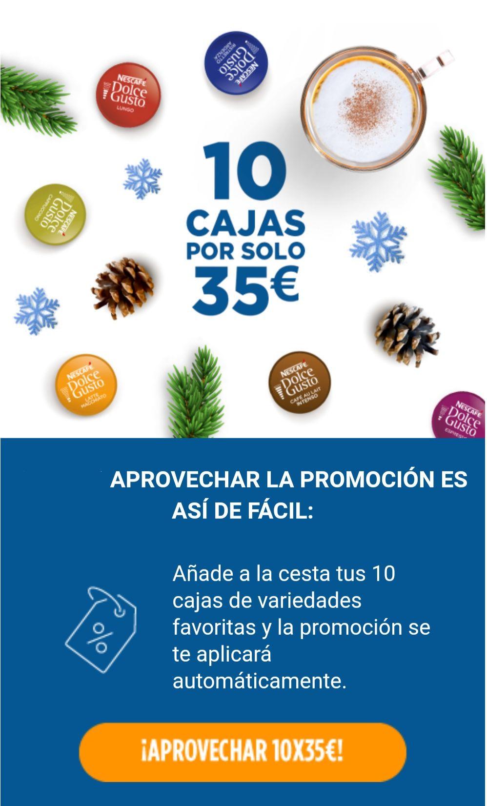 10 cajas de café por 35 euros