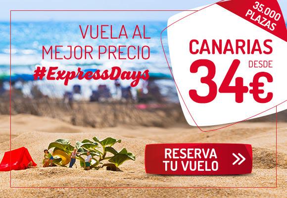 ¡Desconecta en Canarias! Vuelos desde 34€ con los #ExpressDays