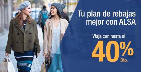 40% en viajes en ALSA