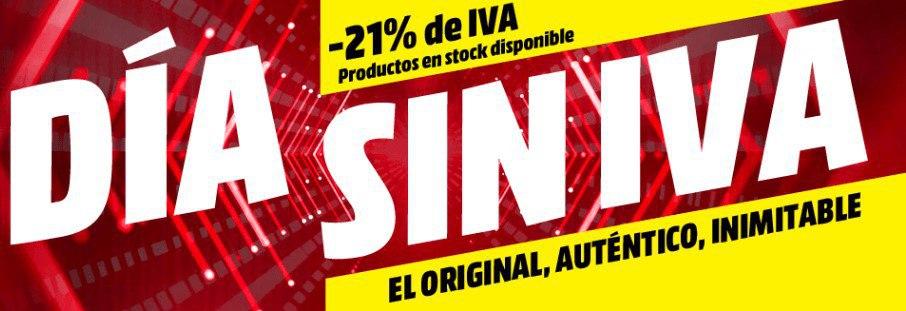 Día SIN IVA activado en Mediamarkt
