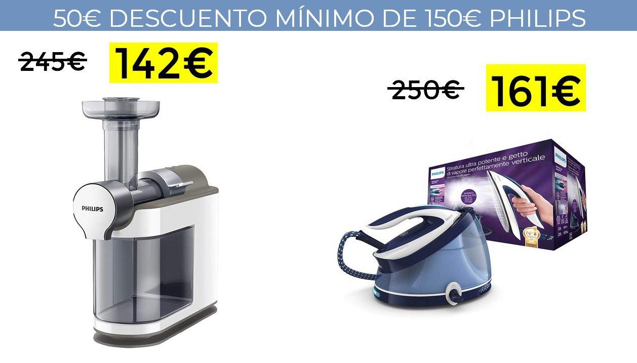 50€ de descuento por compras de +150€ en Philips