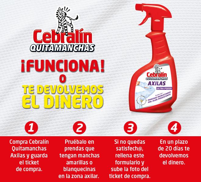 Prueba gratis quitamanchas axilas Cebralin (reembolso)