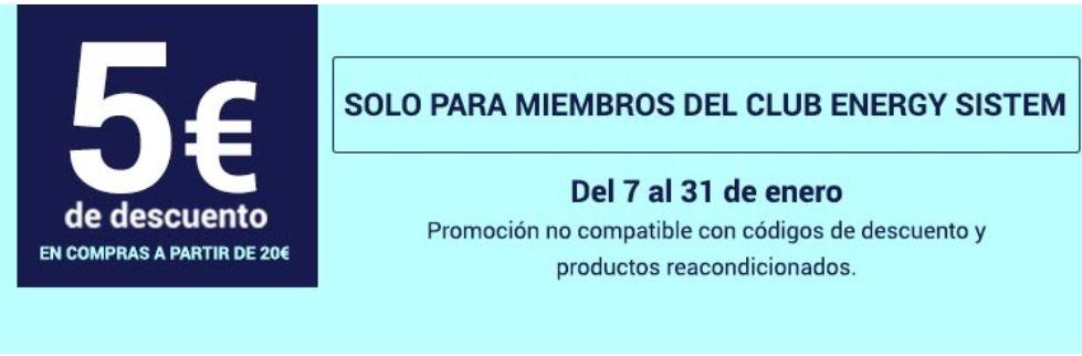 5+3 EUROS DE DESCUENTO EN ENERGY SISTEM
