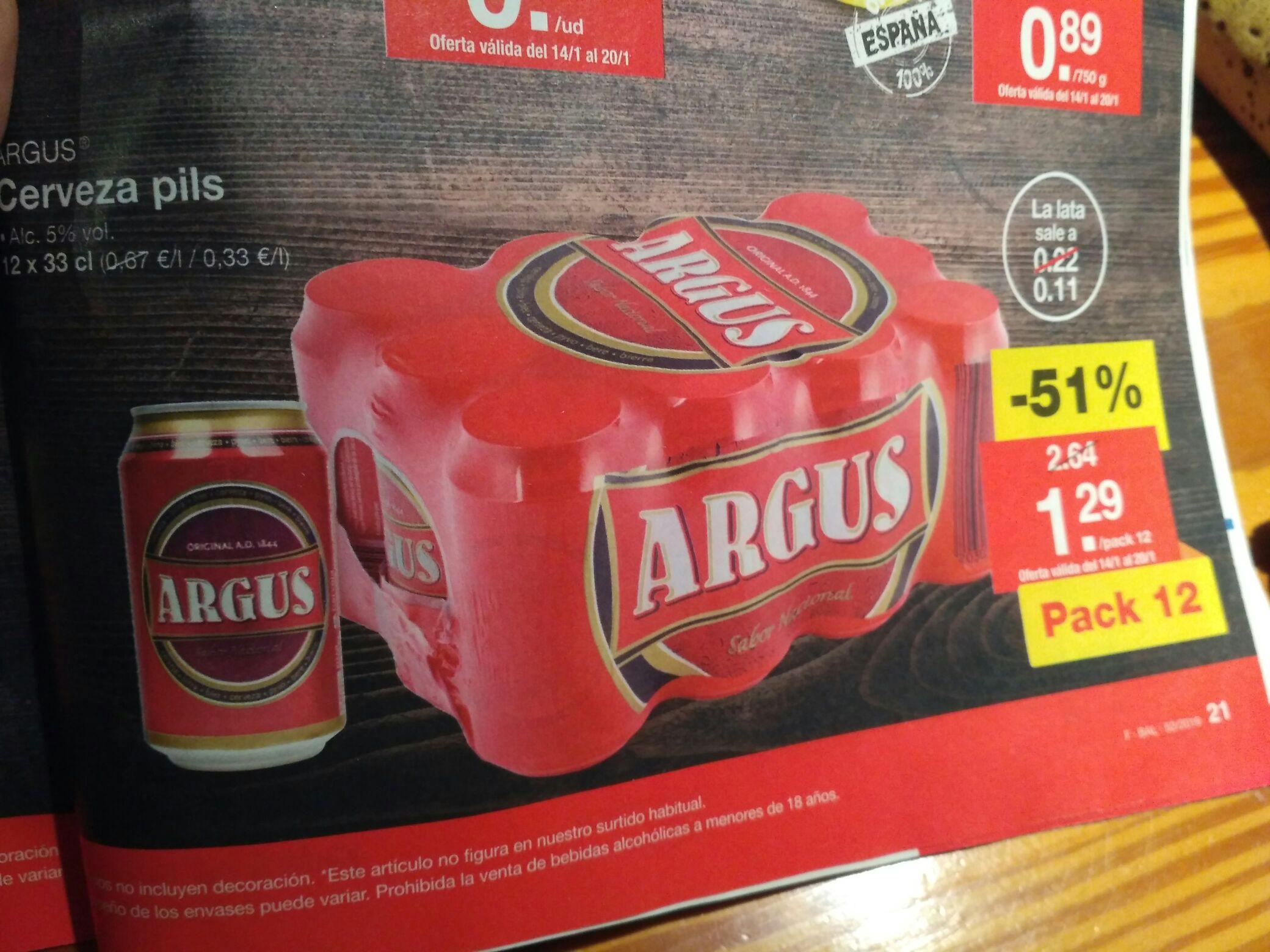 ¡¡¡Super oferta de cerveza Argus!!!