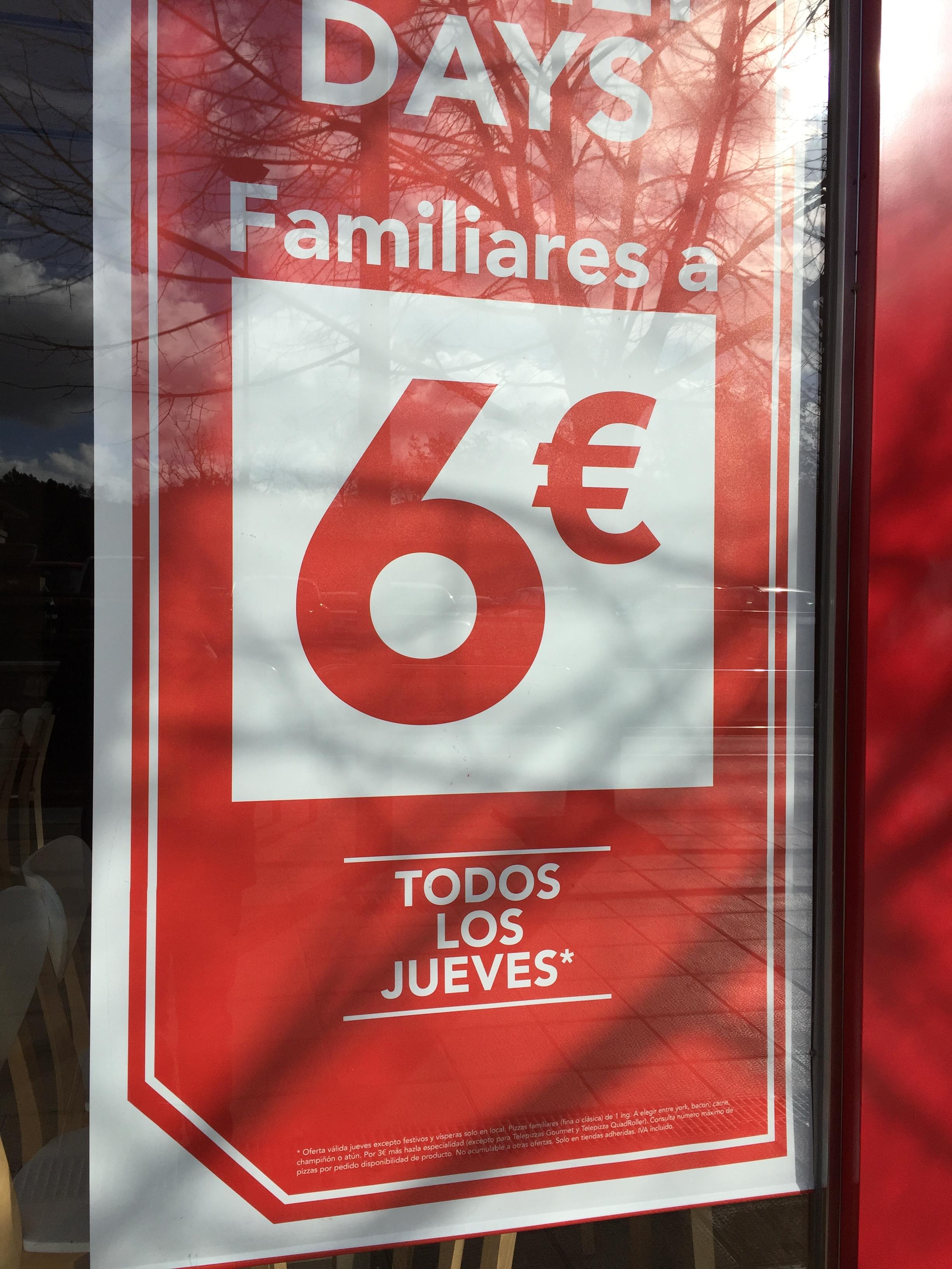 Family days todos los jueves en Telepizza