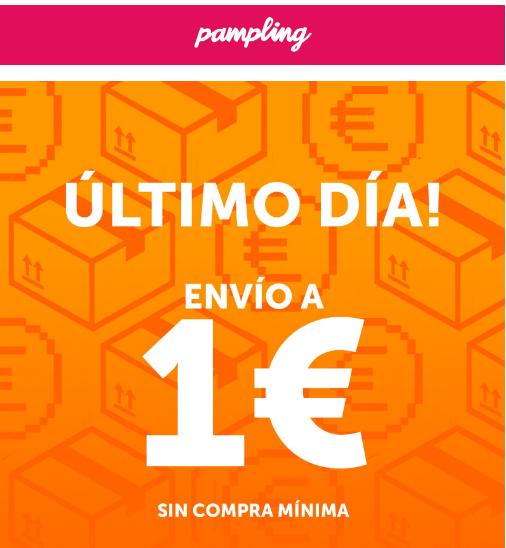 Envio SOLO 1€ sin compra mínima - Pampling