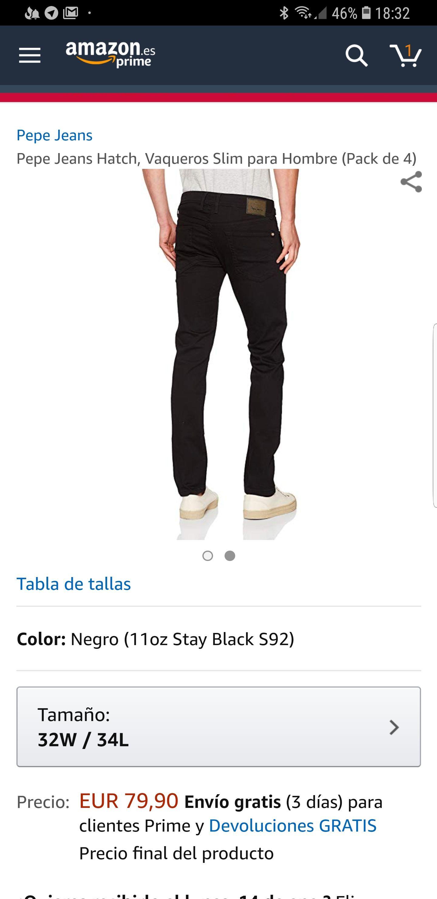 Pack de 4 pantalones pepe jeans hatch slim negro